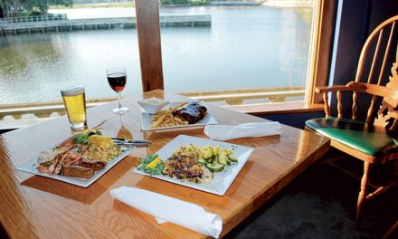 Have dinner and a few laughs at Pelican's Point