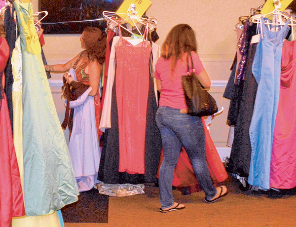 Bluffton gives gowns galore to military wives for ball