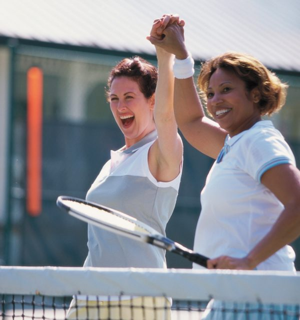 Playing tennis exercises both your body and brain