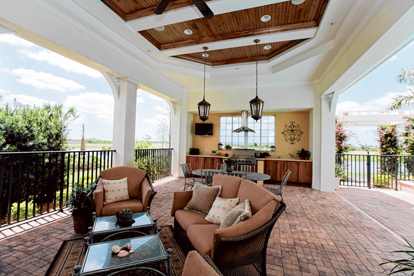 Outdoor living space more stylish, functional, specialized