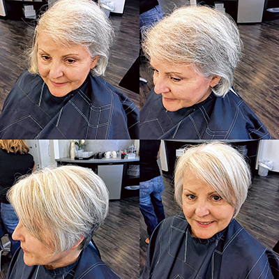 Best coloring and styling options for gray hair