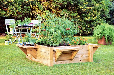 Make backyard gardening easier with a raised bed