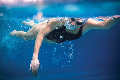 Swimming efficiently means increasing propulsion