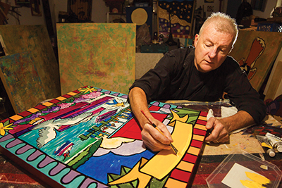 With crazy subjects and colors, Hummell is right at home
