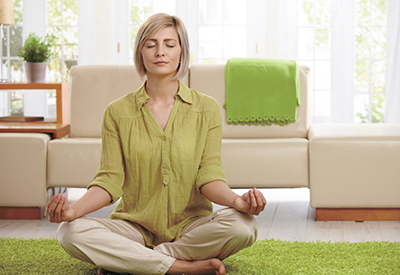 Be still, focus, meditate and be in the calm moment