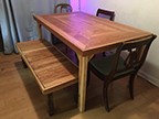 Recipe for joyful meals: Add one handcrafted table