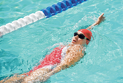 Practice single-arm swimming to improve stroke efficiency