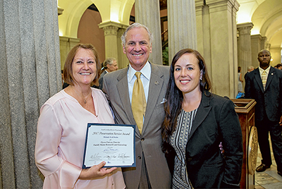 State award given to Marks for historic research on Garvin family