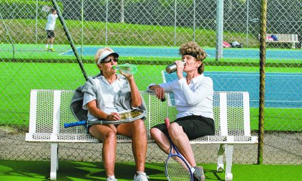 Even in winter, tennis can be enjoyed in the Lowcountry
