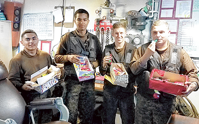Public school students send gifts to deployed Marines