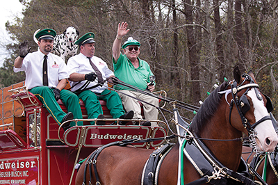 Turning the island green, one parade step at a time