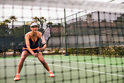 Tennis riddle: What is 'off,'  but best 'on' most of the time?