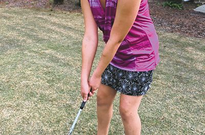 Topping the ball the most common error in golf