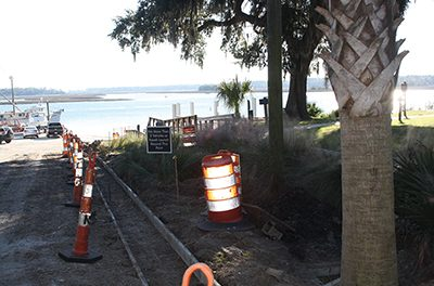 Improvements begun at Oyster Factory Park boat ramp