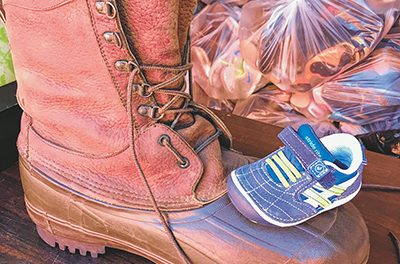 Shoe collection project brings together shared stories