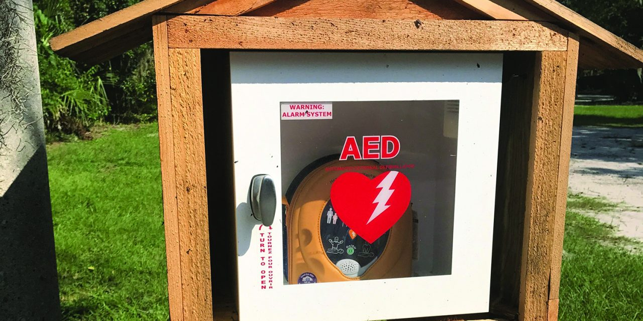 Funding campaign underway  to replace stolen public AEDs