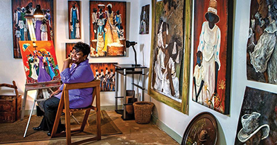 Gullah artist Evans opens new studio on Hilton Head Island