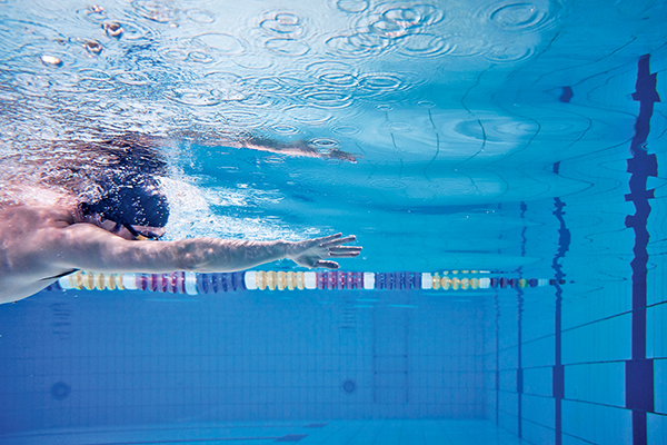 Swimming with an open hand makes for relaxed, comfortable strokes