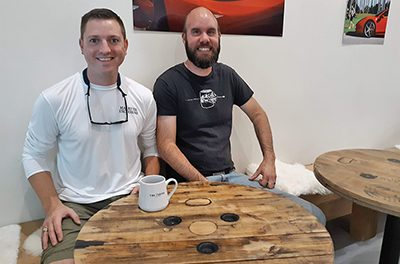 Officer turns off-duty talent into furniture for friends