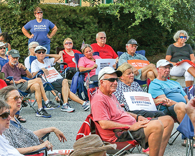 Community members gather to protest gun violence