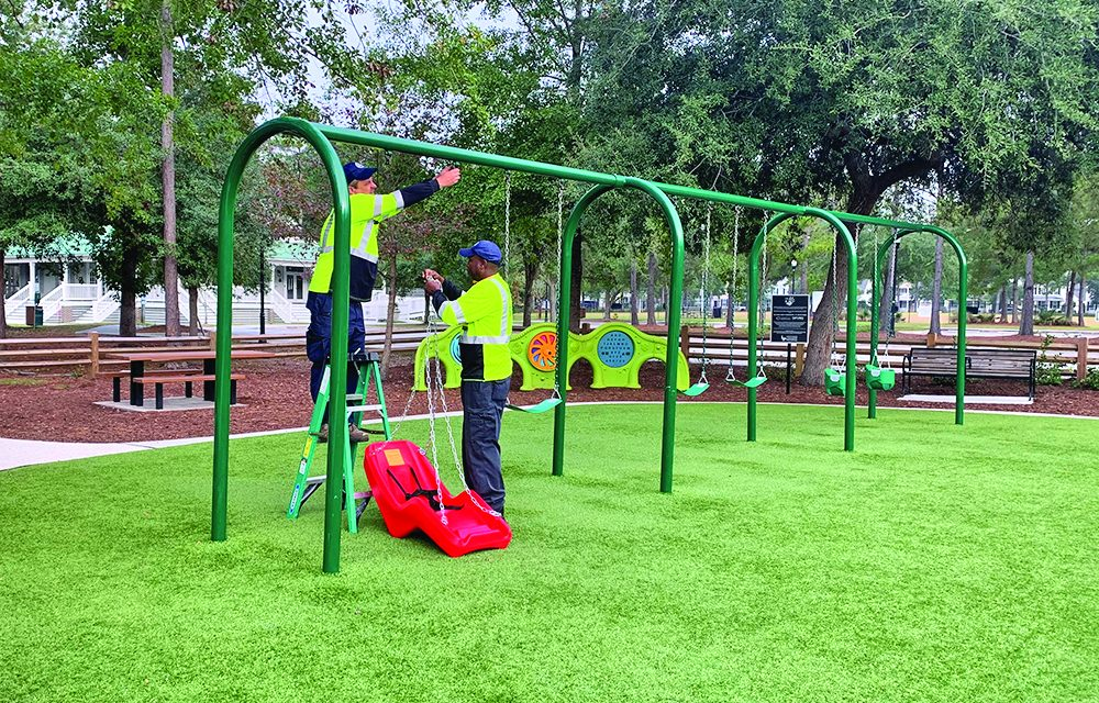 Special new swings make two Bluffton playgrounds accessible