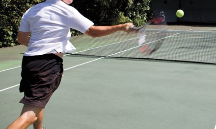 Tennis in the wind means playing a higher percentage game