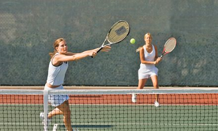 Tennis riddle:  What is 'off,' while best 'on' most of the time?