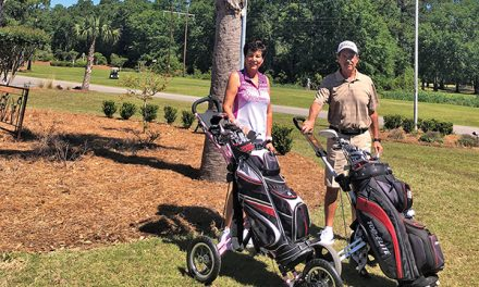 With cart restrictions in place, golfers are walking more