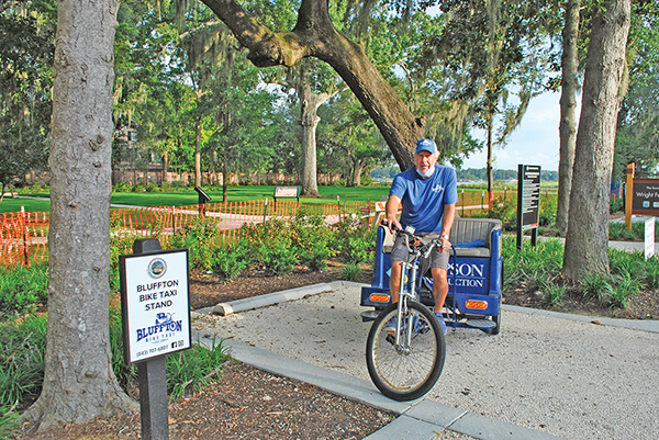 Bluffton bike taxi cycles to downtown locations, old and new