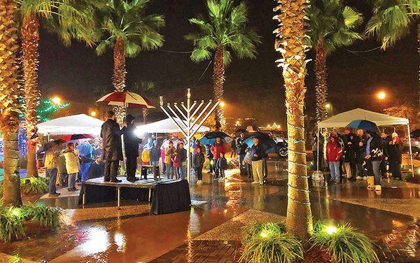 Hanukkah parade, menorah lighting part of global event