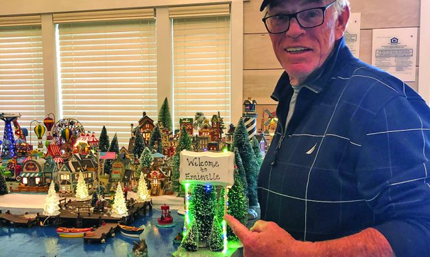 Local recreates Christmas  village to honor father's tradition