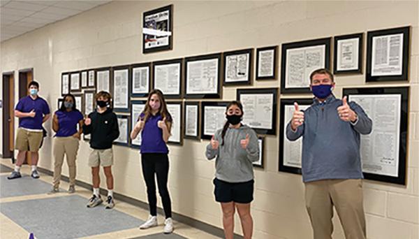 River Ridge Academy receives Freedom Shrine for hallway
