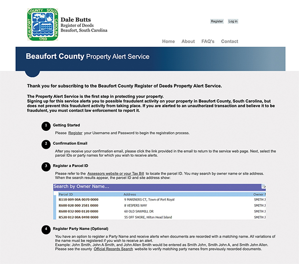 New county program alerts property owners to new filings